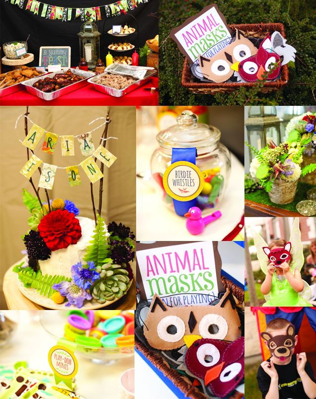 forest theme birthday