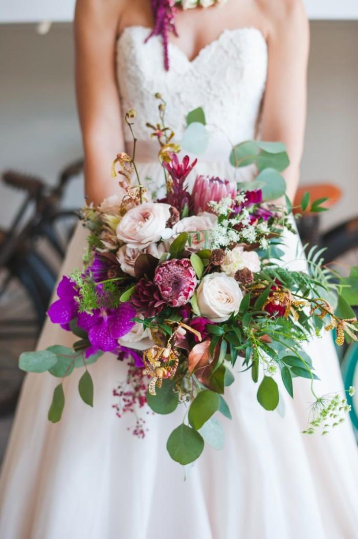 colorful garden bouquet