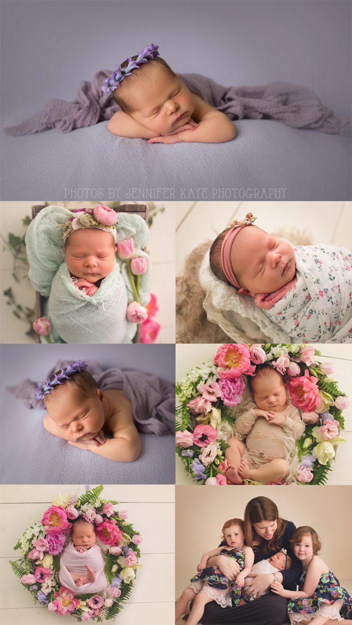 Newborn photography newborn flowers